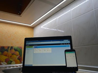 Automatic Lighting of the Working Area in Kitchen