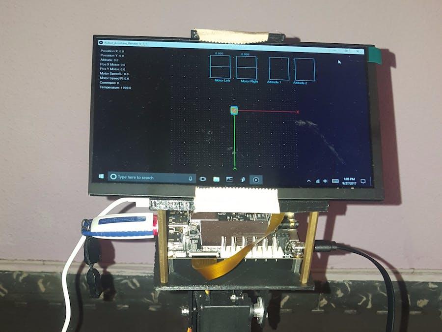 Robot Navigation Using the Pressure Sensor DPS310.