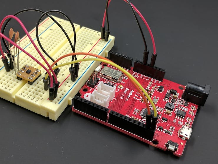 Connect DPS310 breakout board to Blend v2 board