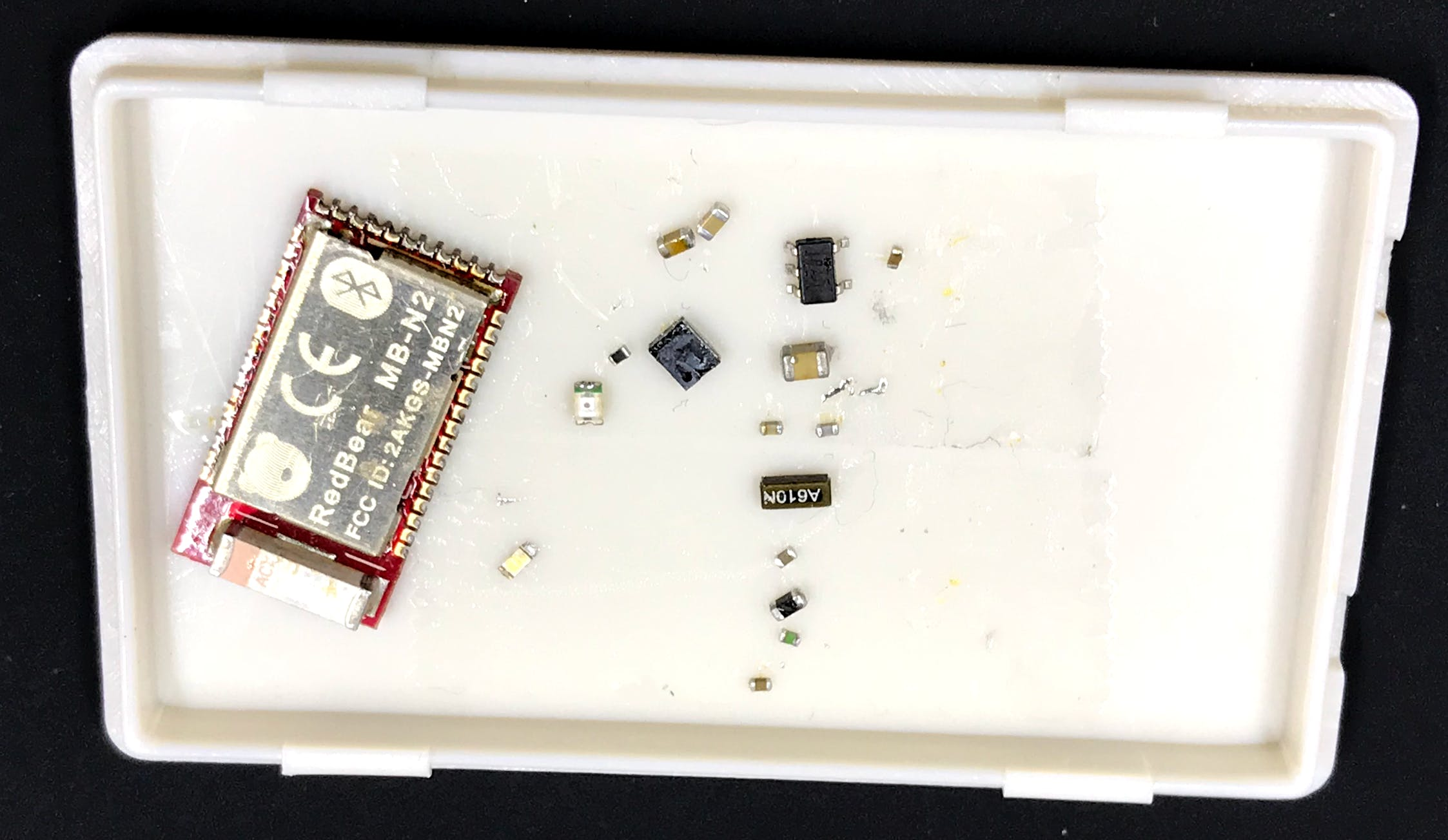Salvaged components from Nano v2 board
