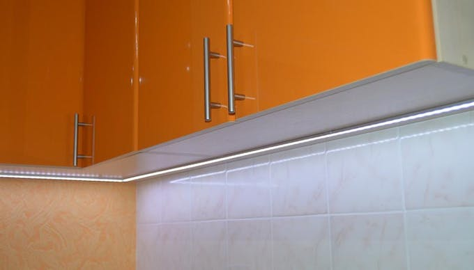 Figure 1. Kitchen working area accent lighting with automatic control.