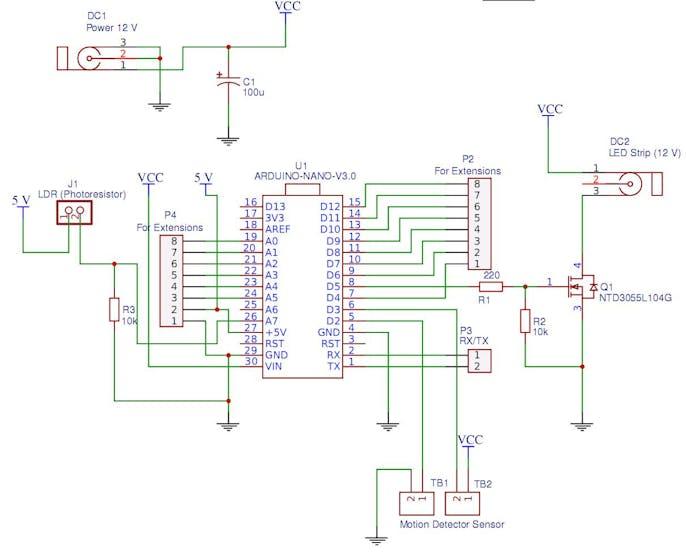on arduino nano schematic
