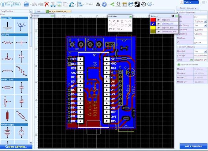 Figure 6. PCB Designing in EasyEDA.