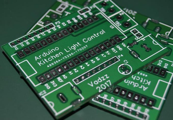 Figure 8. The set of printed circuit boards manufactured in EasyEDA.