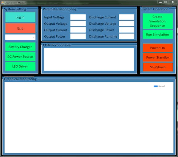 Development of  Power Module Windows GUI