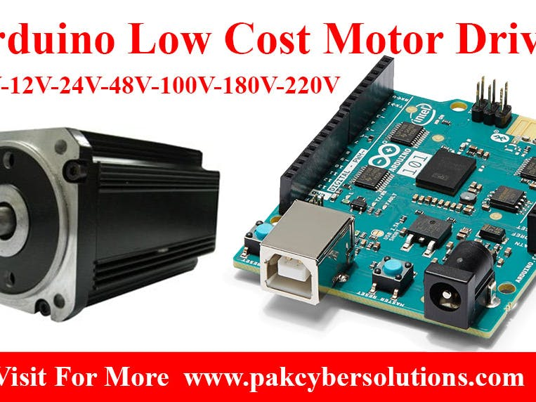 Arduino Low Cost High Power Motor Driver 1 to 220V