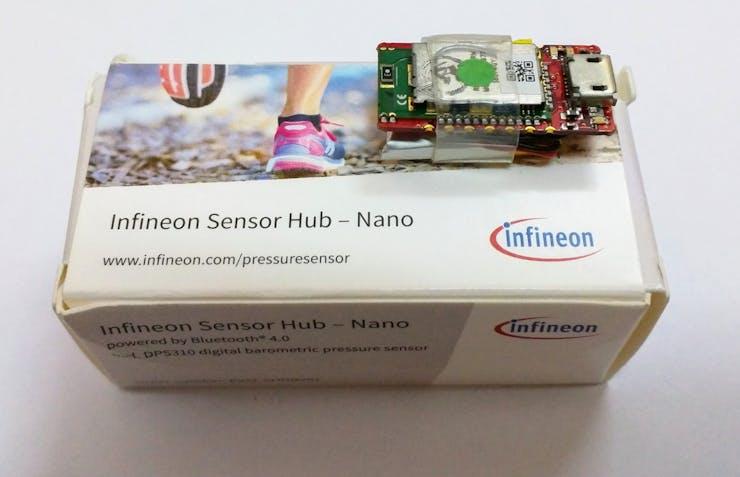 The Sensor Hub Nano! Note the very small size!