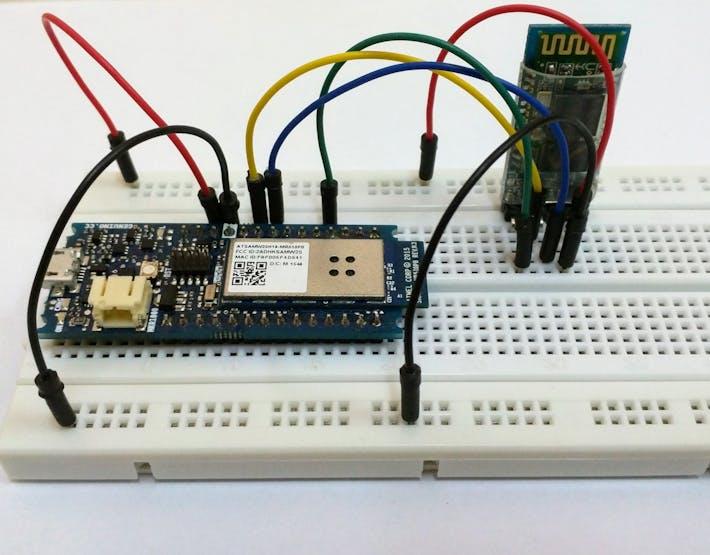 HC-05 breadboard wiring