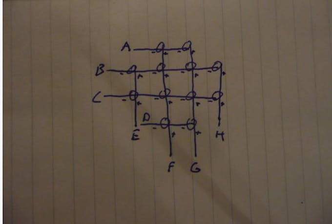 The LED circuit of forth layer .