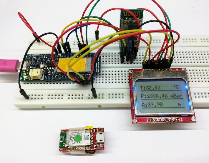 Displaying sensor values