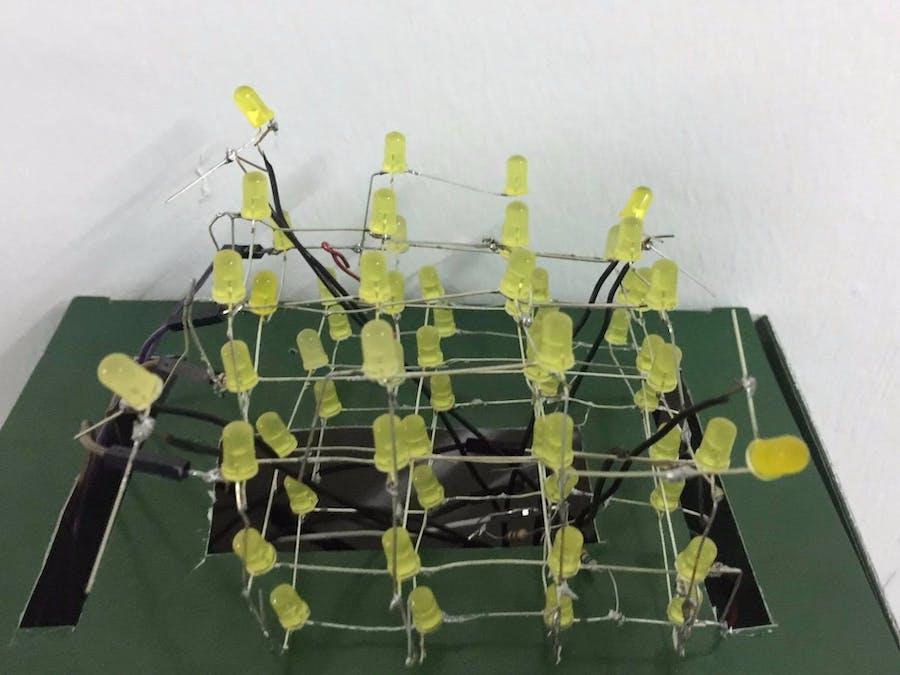 Interactive 4x4x4 LED cube