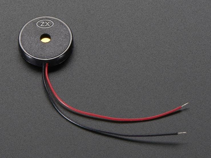 A buzzer, from Adafruit