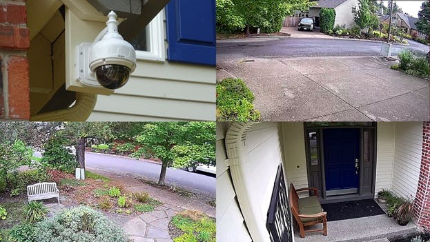 IP Camera, Driveway, Front Yard and Front Door zones