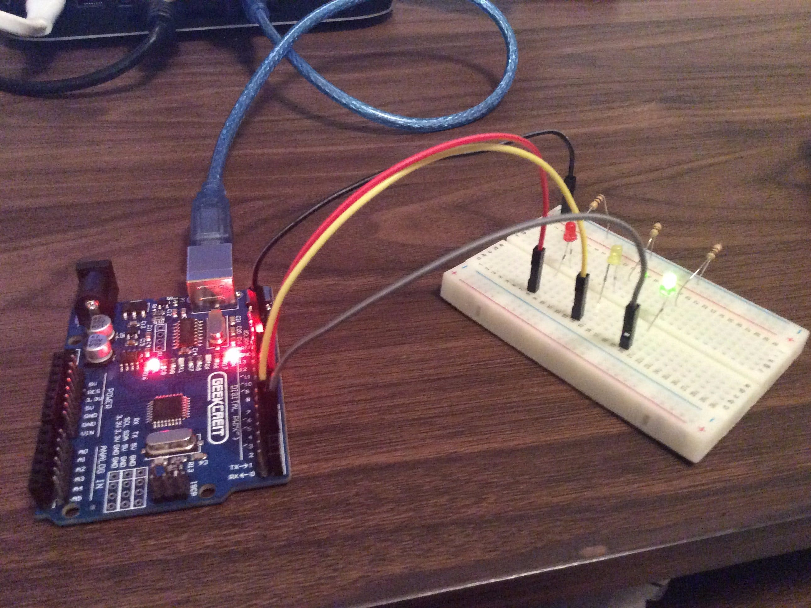 Arduino Traffic Light Simulator