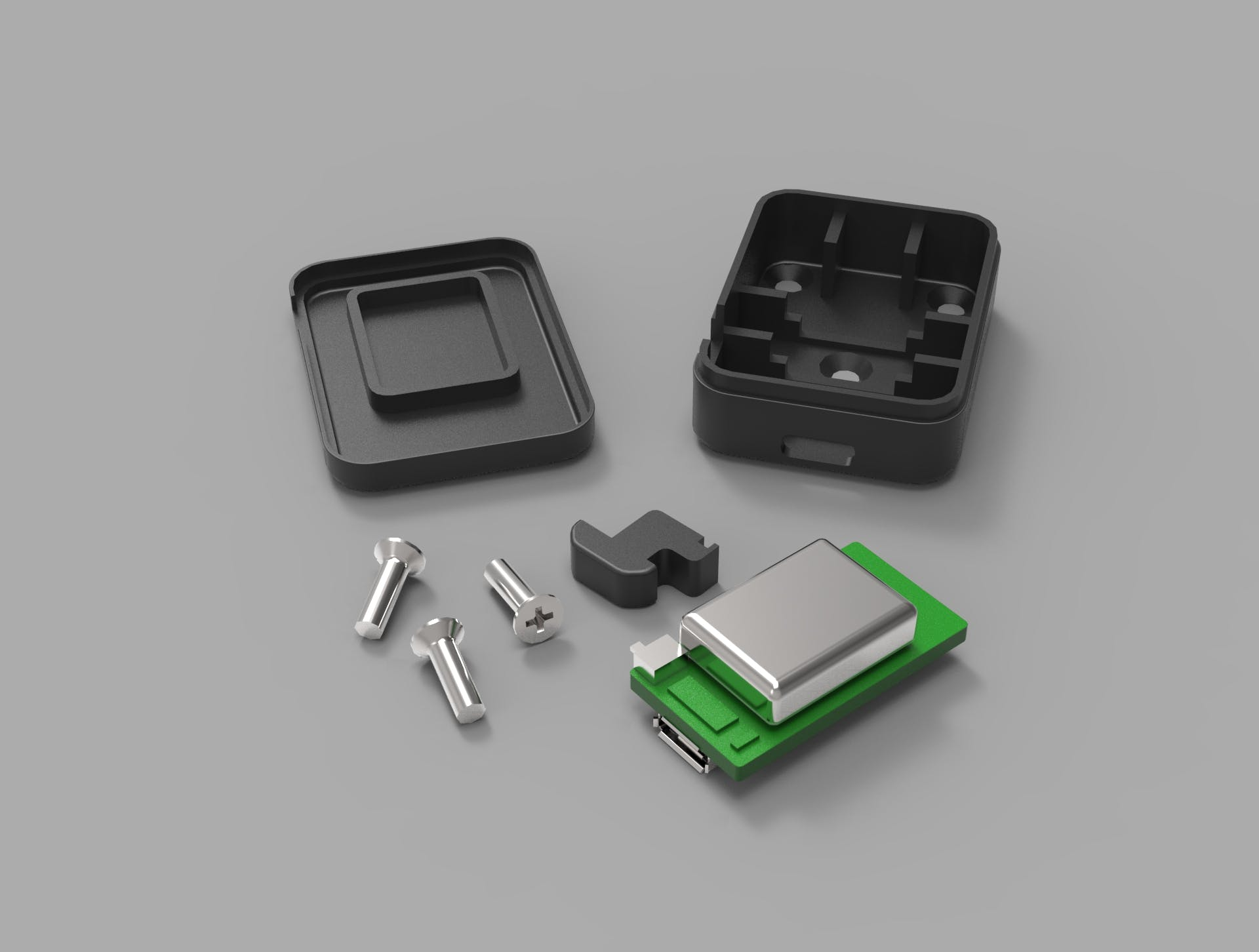 Enclosure for a versatile nanoHub gym tracker gadget.