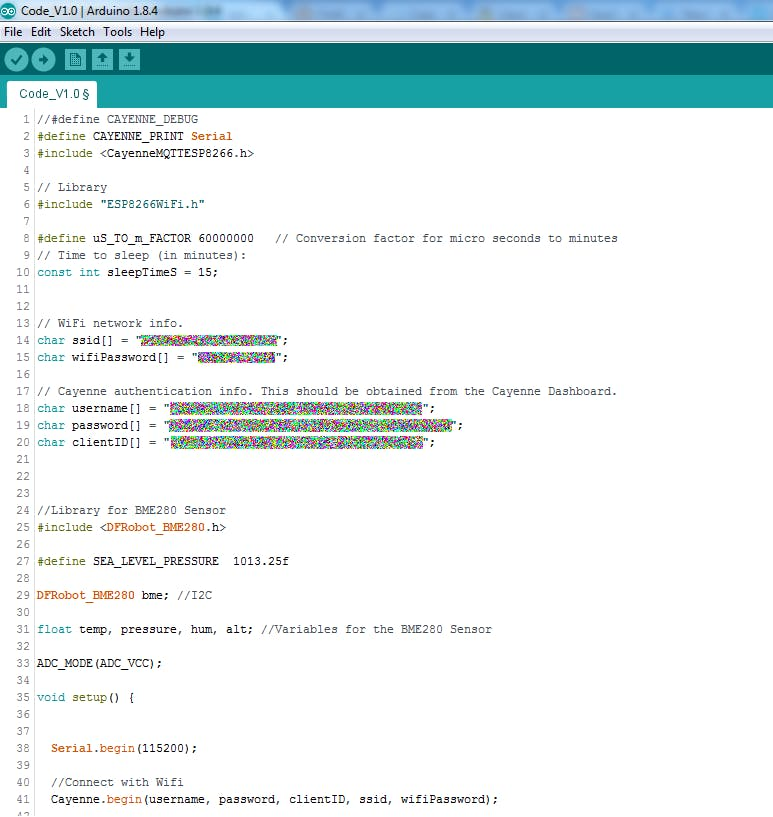 Code variables