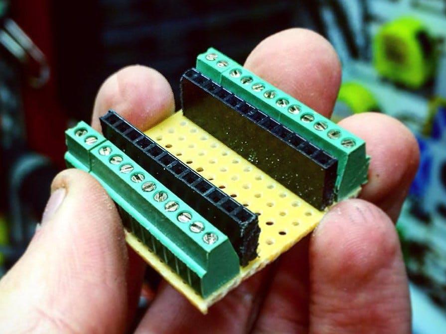 Making a Screw Shield for the Arduino Pro Mini
