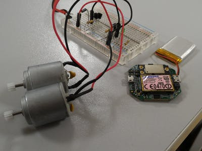 Motors Control with Gesture