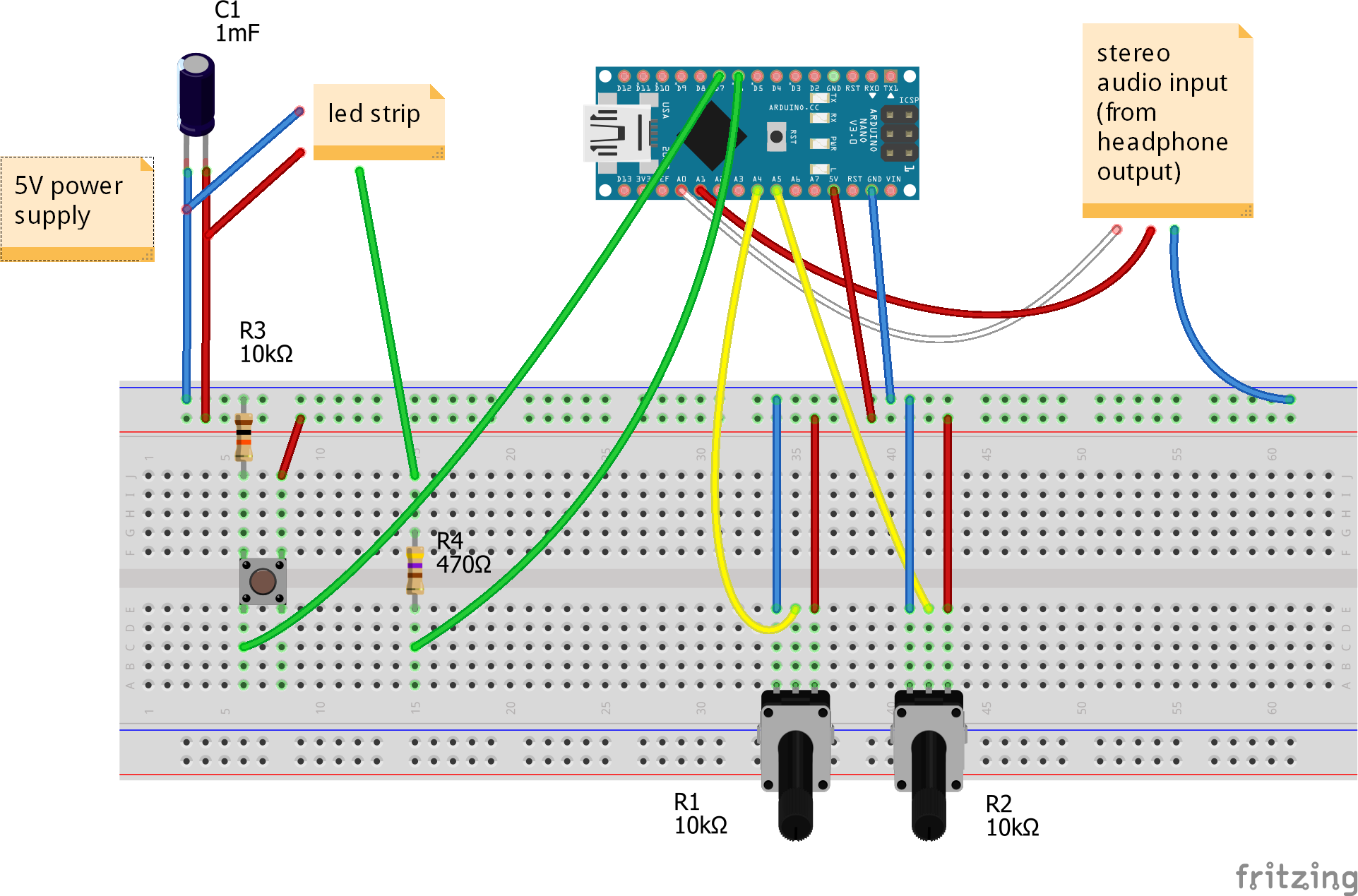 Vu Meter Schematic Wiring Diagram Bots Using A Lm3915 Circuit Stereo Neopixel Ring Hackster Io