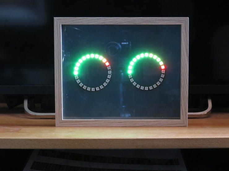The VU meter in a photo frame