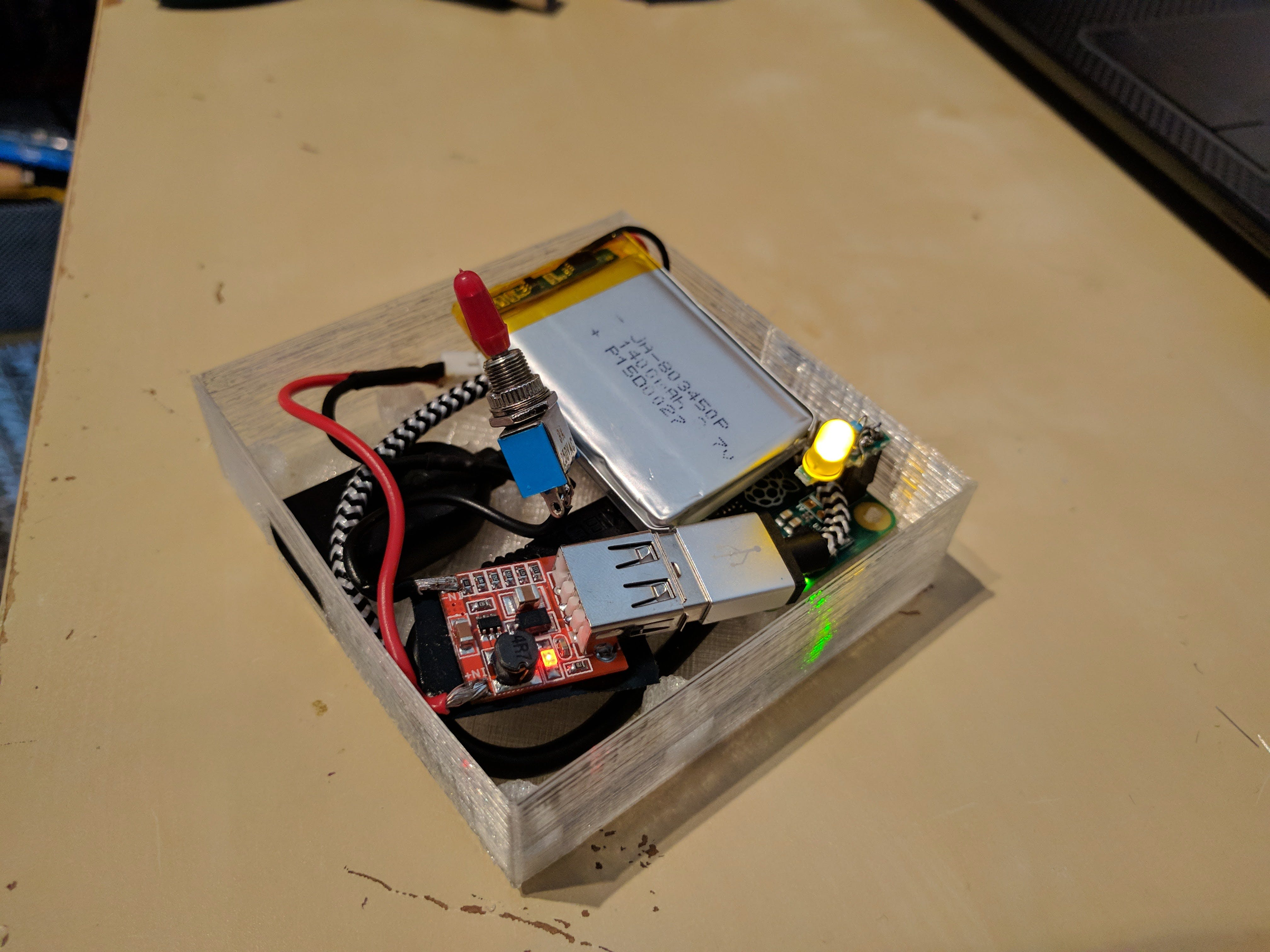 The insides of a Cryptopuck