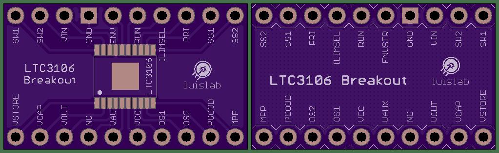 LTC3106 Breakout (TSSOP-20)