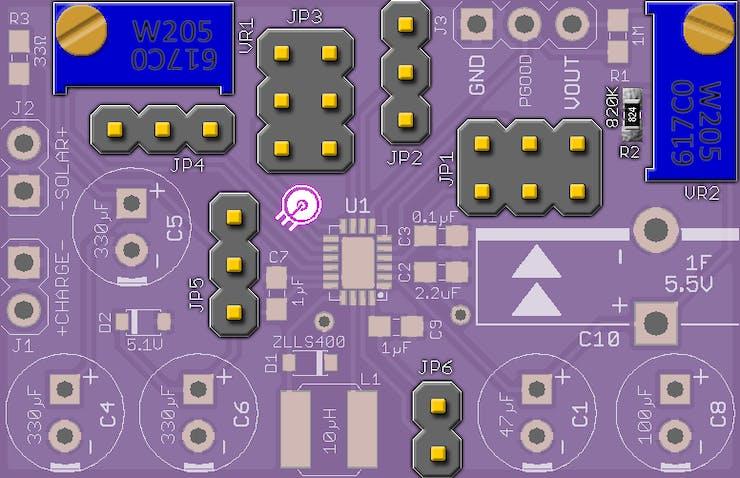 LTC3106 (QFN-20) custom PCB programmable components