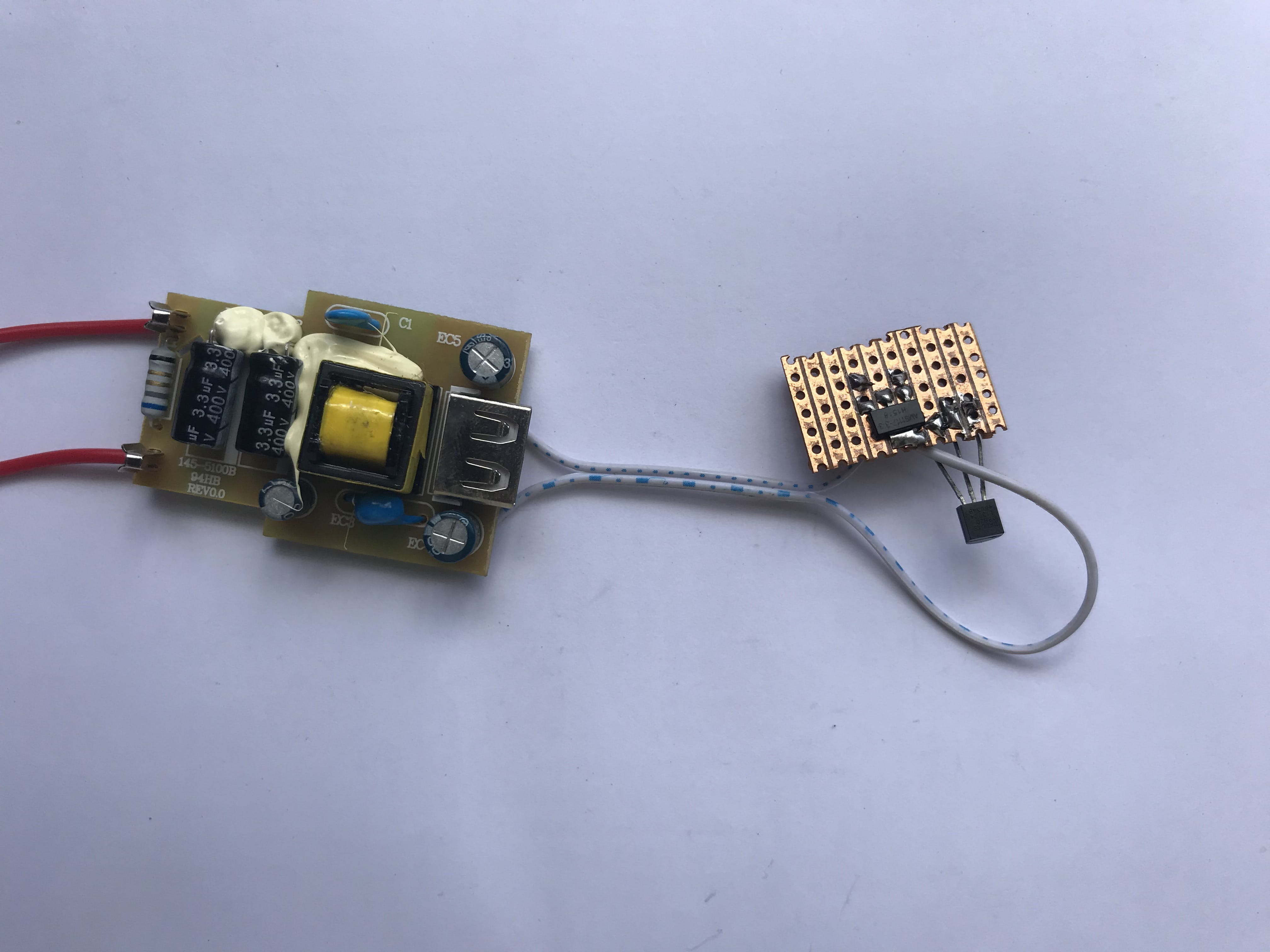 Connecting regulator to the charger