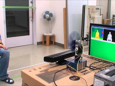 Electric Fan System using KINECT sensor and Beagleboard-xm