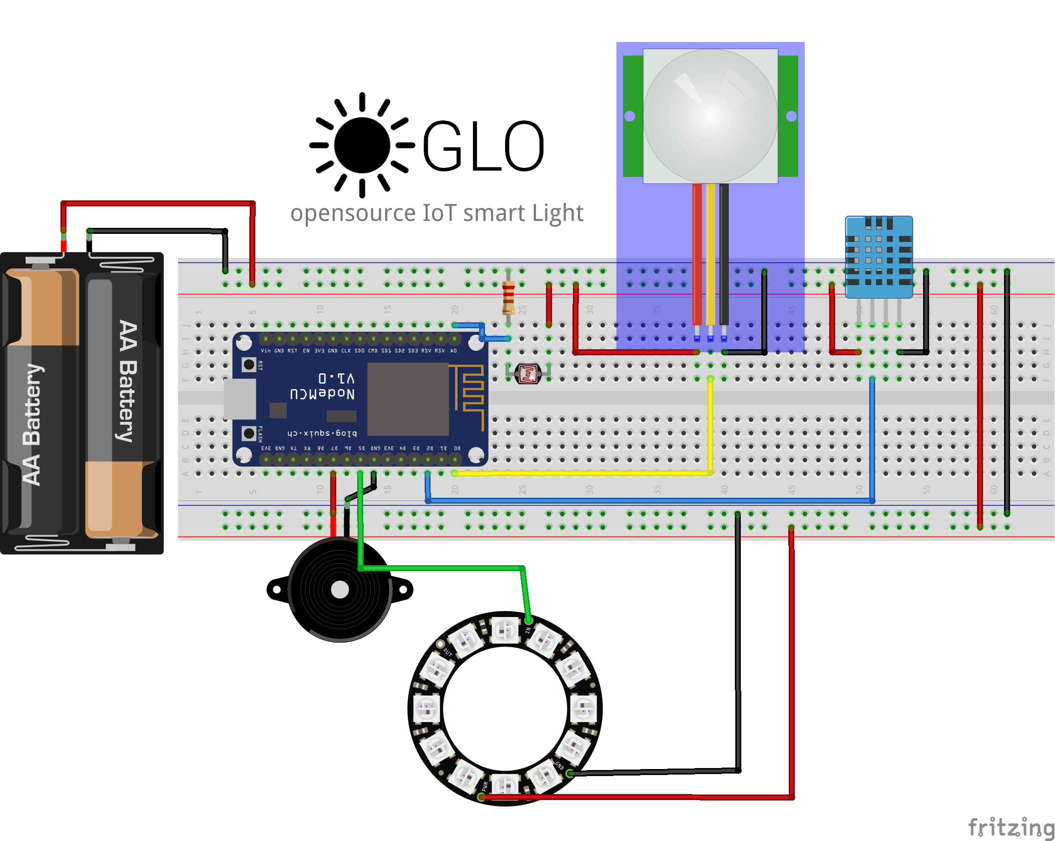 wire diagram of GLO