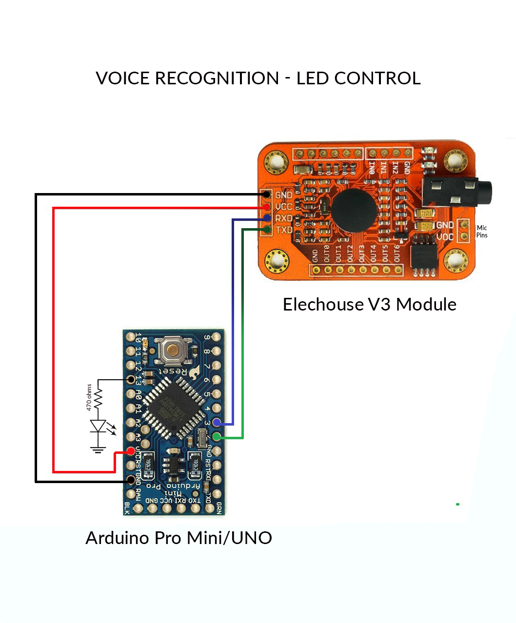 Voice Recognition With Elechouse V3 And Arduino Led Wiring Diagram Circuit Dhz7dduzew