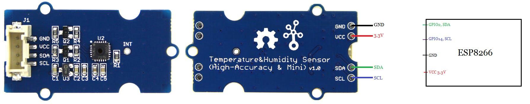 TH02 Temperature and Humidity Sensor Interfacing with ESP8266