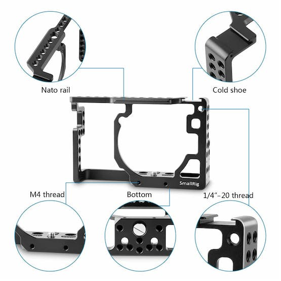SmallRig cage mounting points