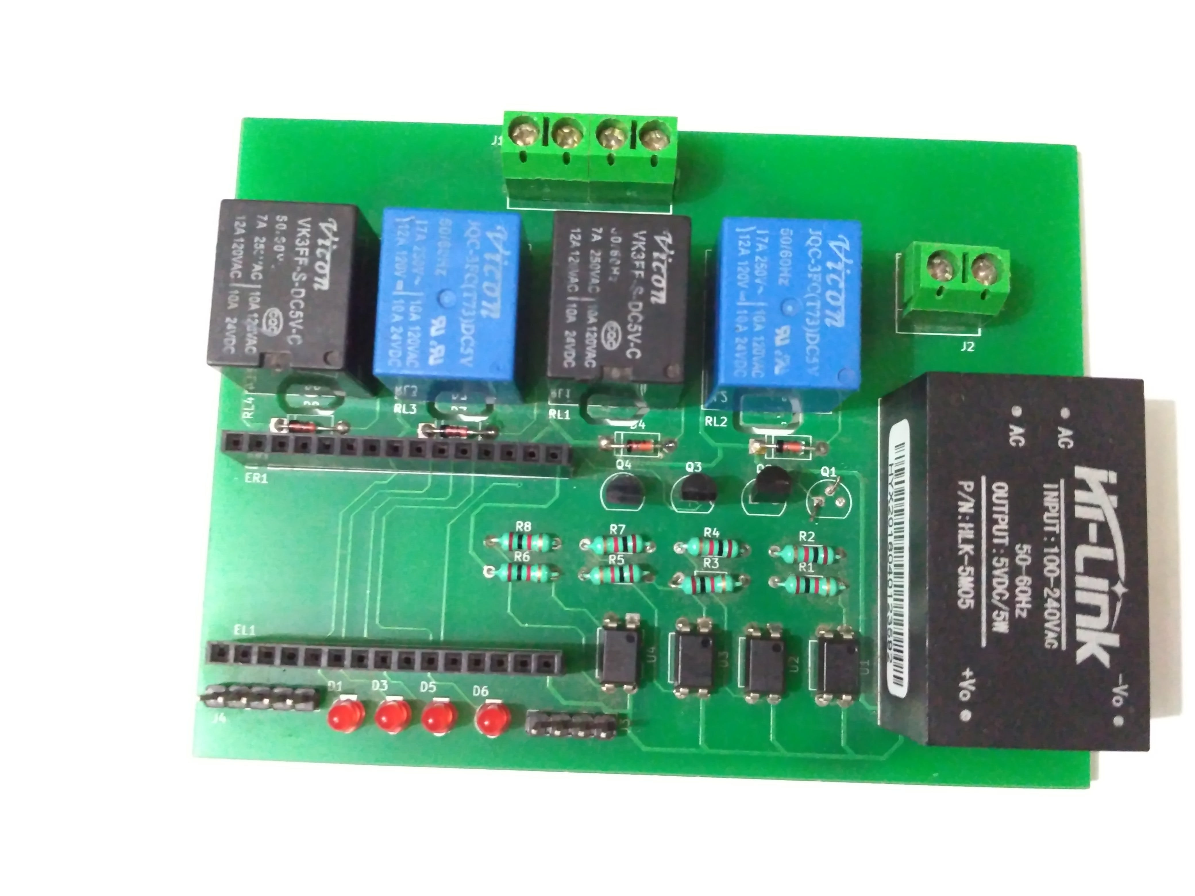 Board with S8050 and 1N4148