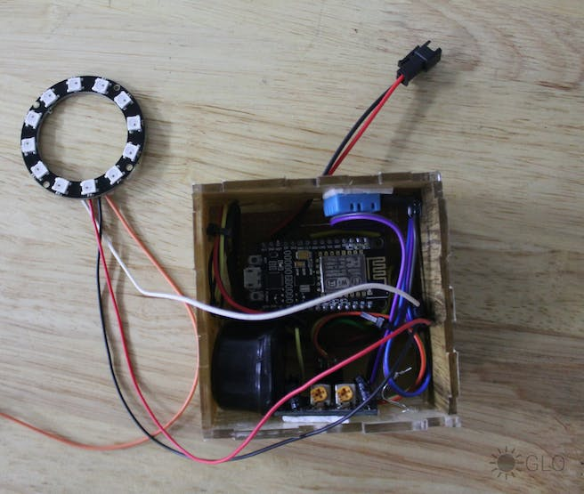 after placing circuit in the enclosure