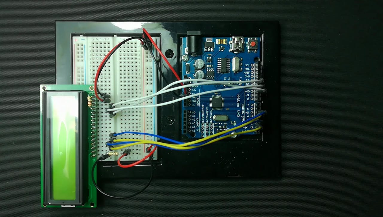 A Simple Arduino Menu With An Lcd Acb Wiring