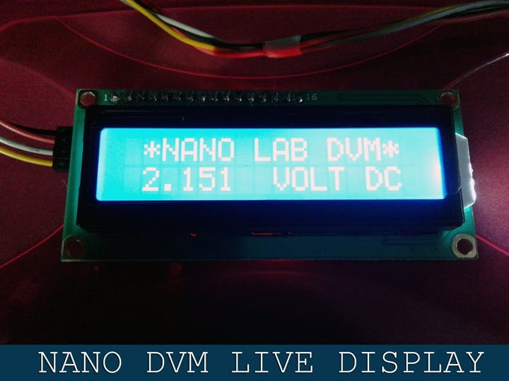 Digital Voltmeter With Arduino Nano