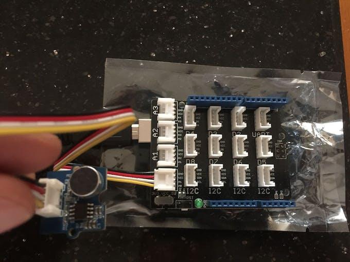 Sound Sensor, Grove shield & Arduino