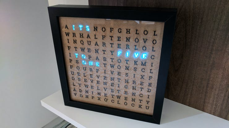Android Things Word Clock - Hackster io
