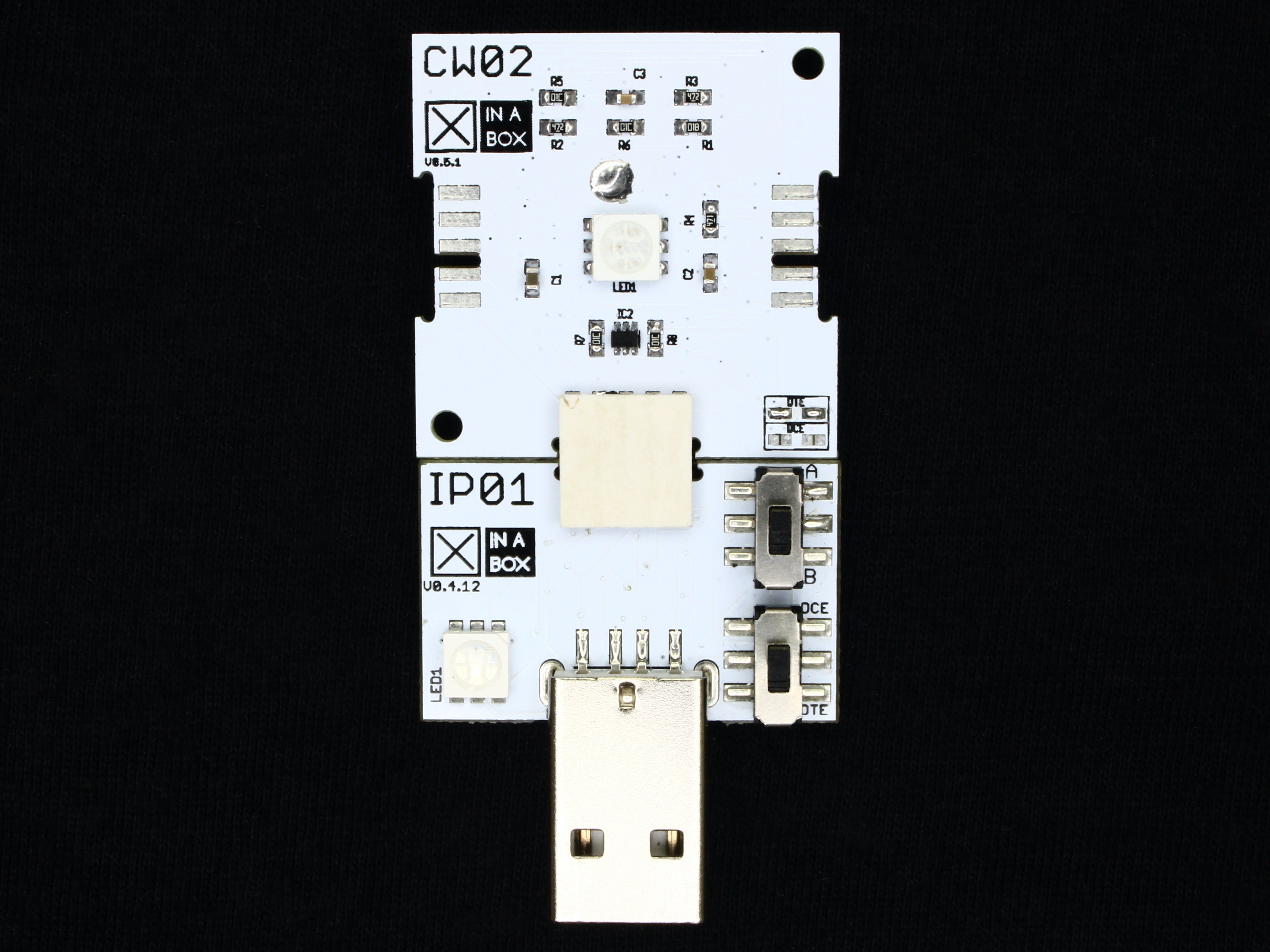 CW02 and IP01 connected together for programming over USB.