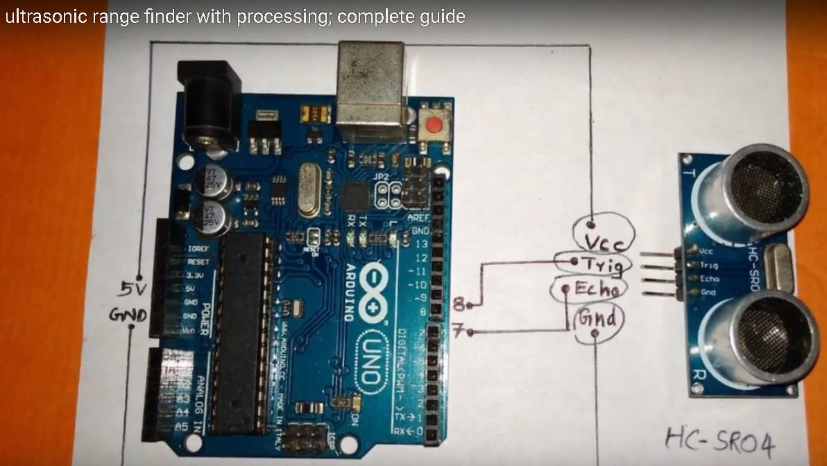 Ultrasonic Rangefinder With Processing Arduino Project Hub Wiring