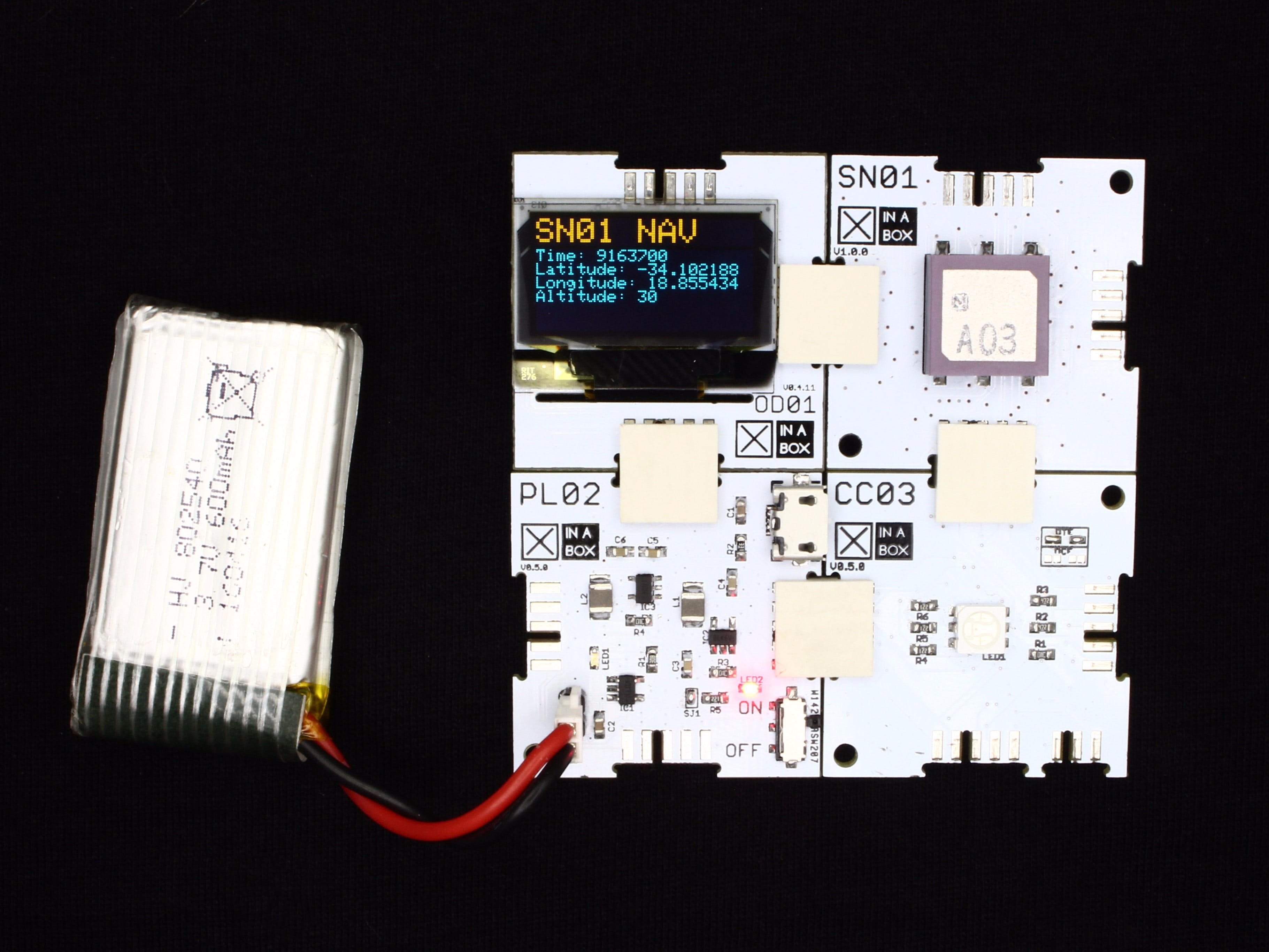 GPS OLED Position Display Using XinaBox