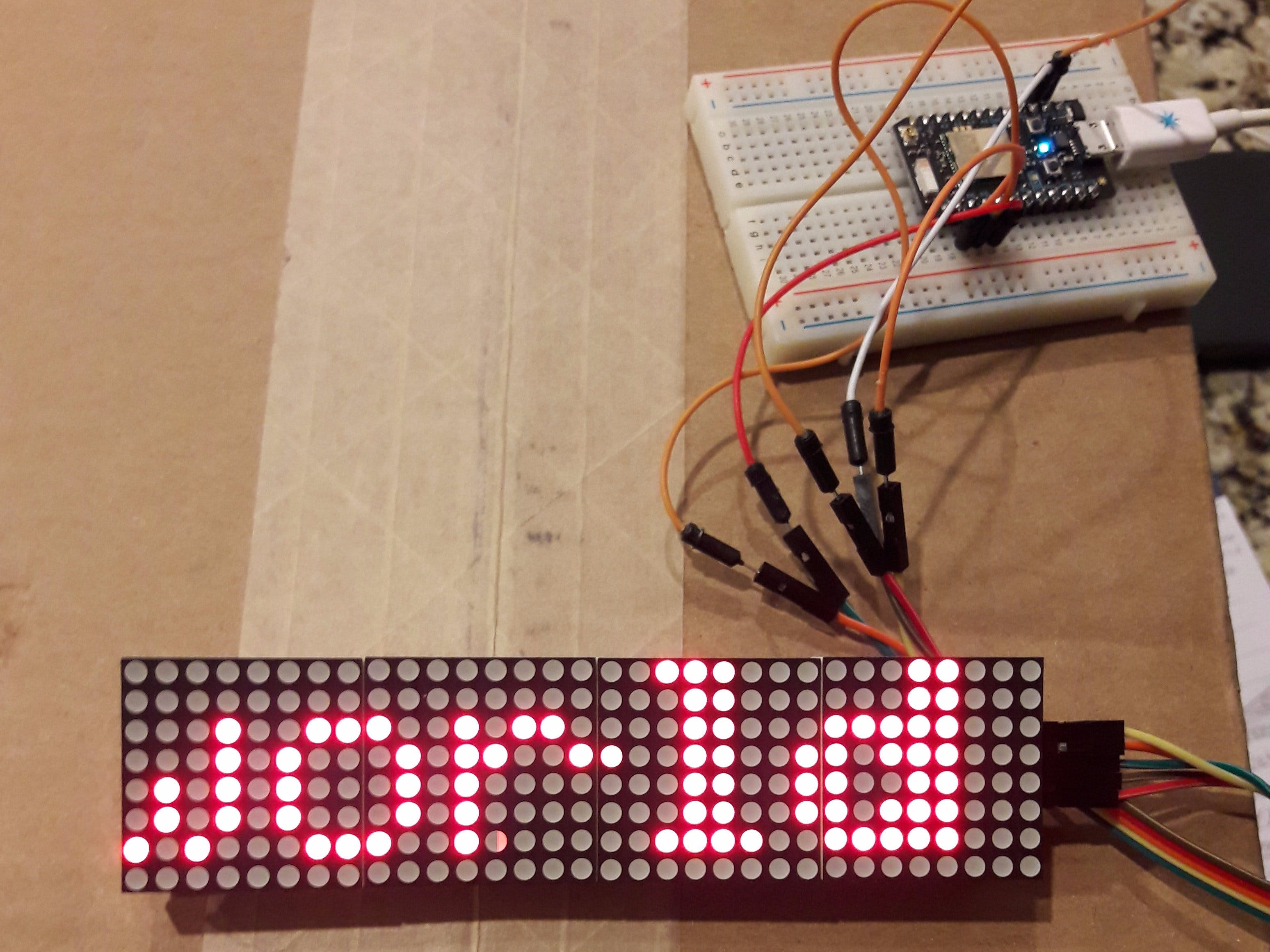 Smart LED Matrix for Particle Photon