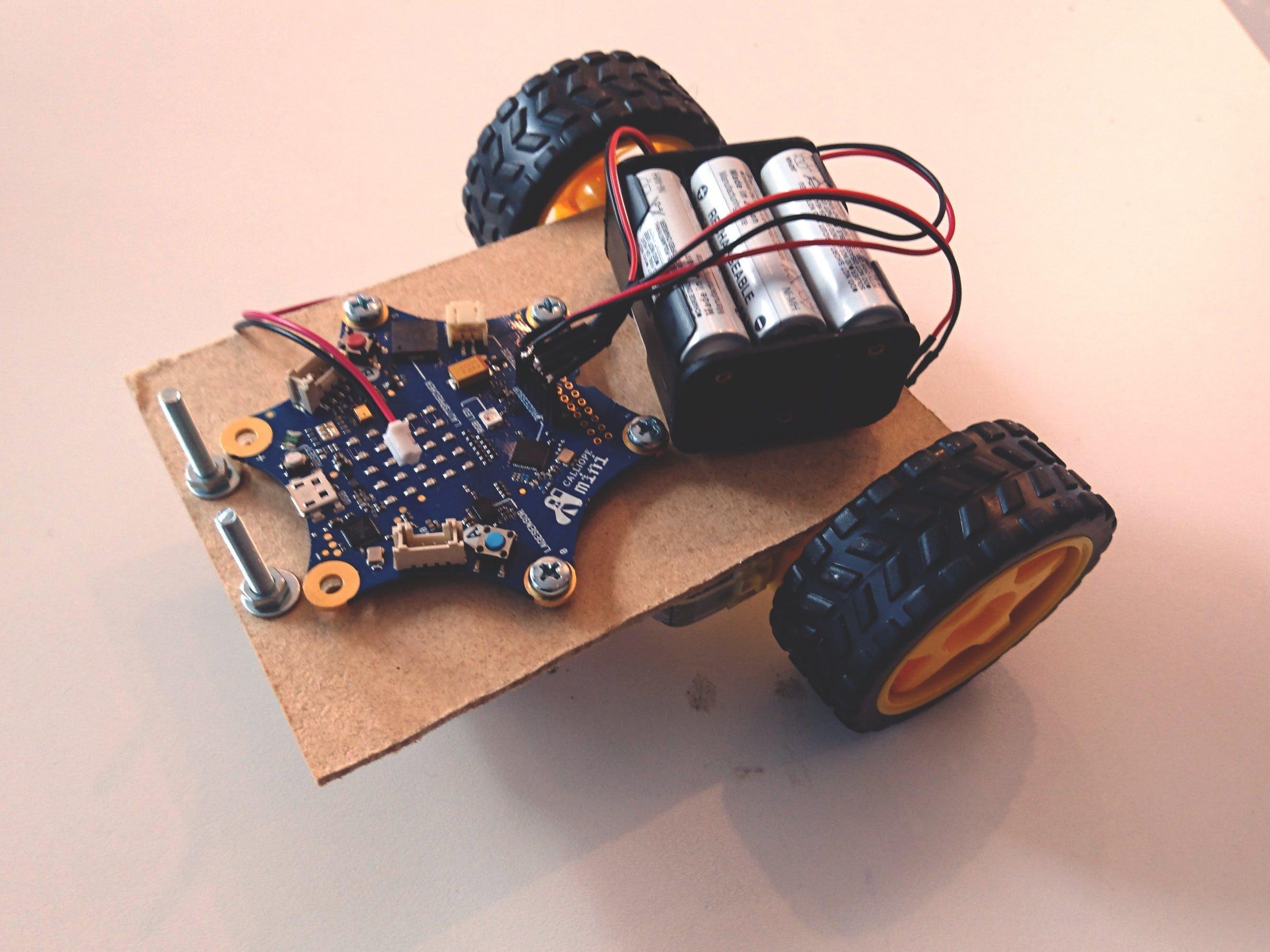 Calliope Mini - Ferngesteuertes Auto