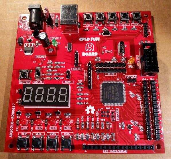 Arduino + CPLD = CPLD Fun Board! Two dev boards into one