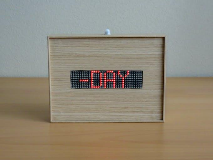 Arduio 32x8 LED matrix photo frame