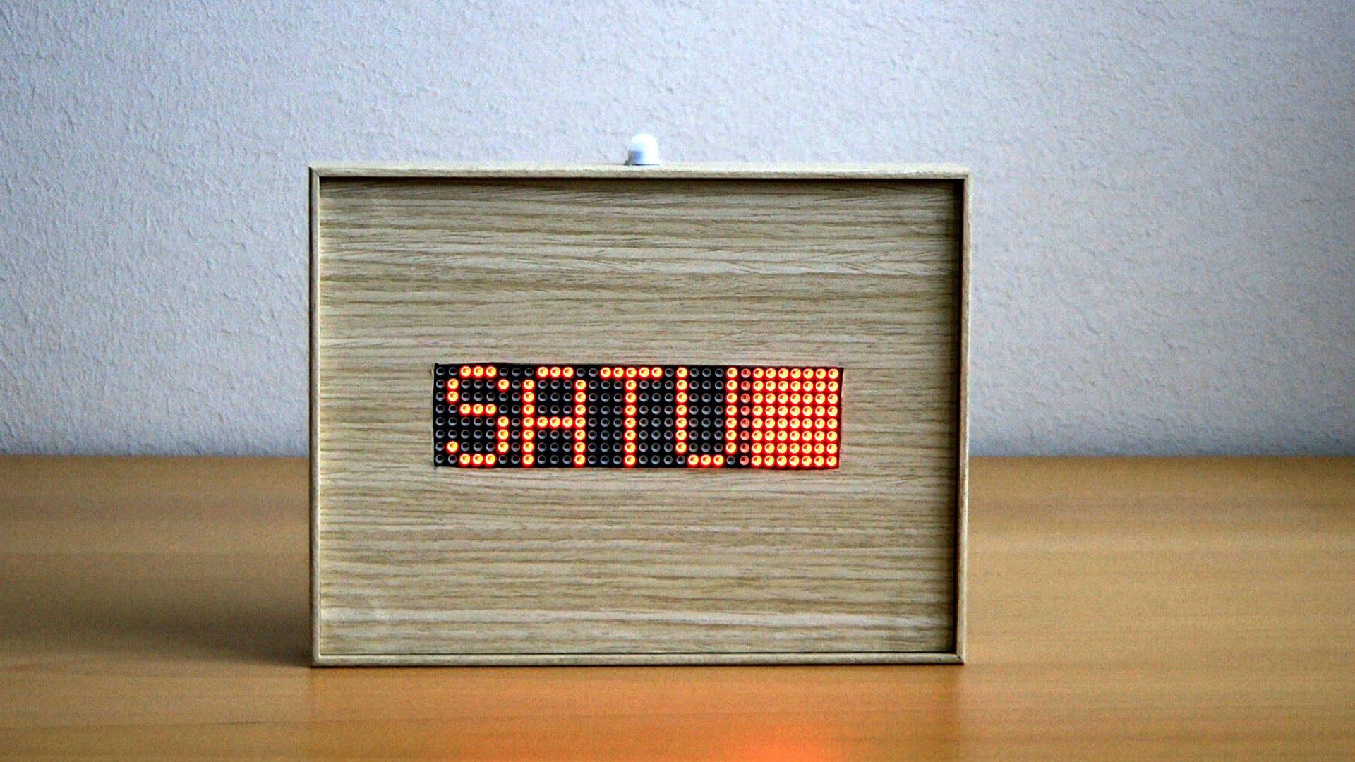 Arduino 32x8 LED Matrix Info Display