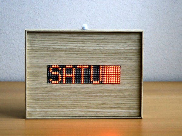 Arduino 32x8 Led Matrix Info Display Arduino Project Hub
