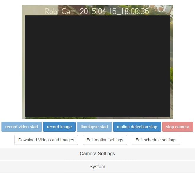 Web Access to Camera