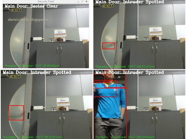 Motion Detection | OpenCV | Raspberry pi | Telegram